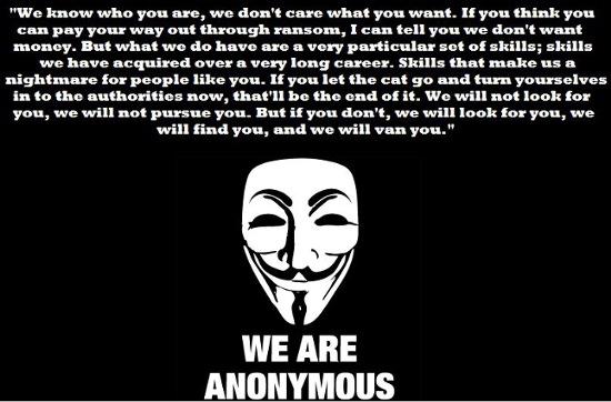 Les Anonymous démasqués à cause de leur communiqué de presse ?