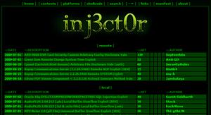 La base de données d'Inj3ct0r diffusée sur Internet