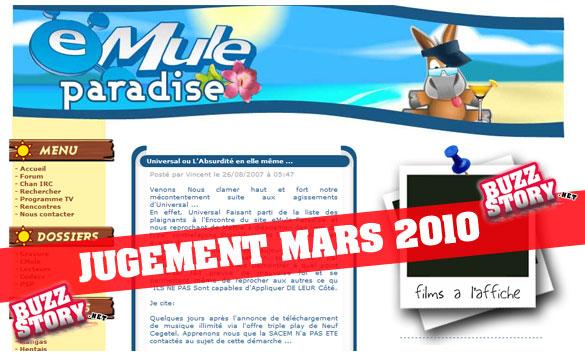 eMule Paradise : Ouverture du procès d'eMule et du lien P2P