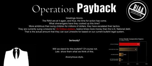 DDoS : Les Anonymous s'en prennent de nouveau à la RIAA