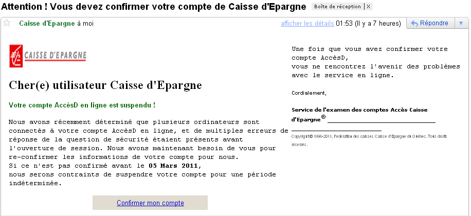 Prudence Phishing Caisse D Epargne En Cours Undernews