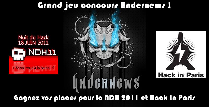 Grand jeu concours UnderNews : Des places pour la NDH 2011 à gagner !