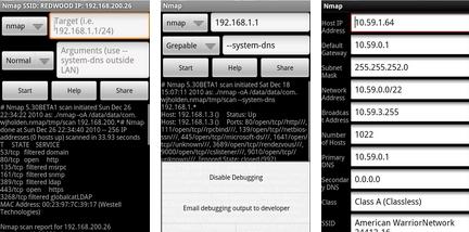 Le scanner réseau nmap pour Android aussi !