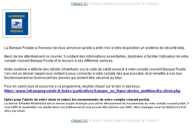 Alerte : phishing Banque Postale en cours   UnderNews