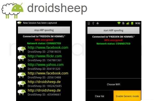 """DroidSheep : Une application Android dédiée au """"Session Hijacking"""""""