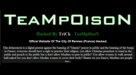Les sites Web de plusieurs grandes villes françaises détournés
