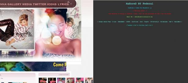 Rihanna voit son site de fans le plus important piraté et défacé !