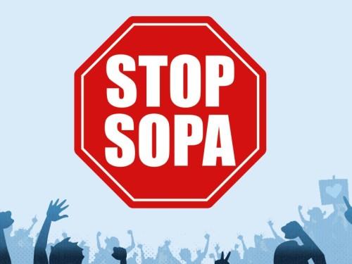 La protestation anti-SOPA se met en œuvre