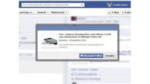 arnaque iphone 5 facebook