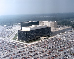 Siège de la National Security Agency, à Fort George G. Meade, Maryland, États-Unis.