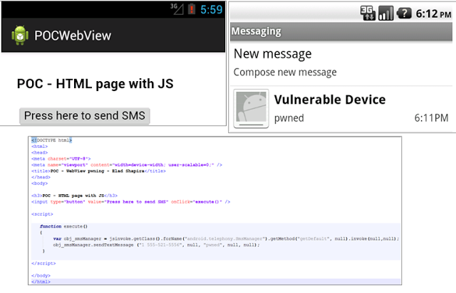 Android WebView exploit