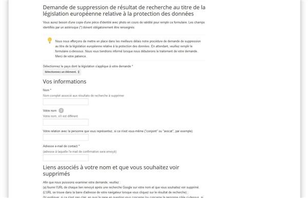 Google Comment Faire Valoir Son Droit A L Oubli Undernews