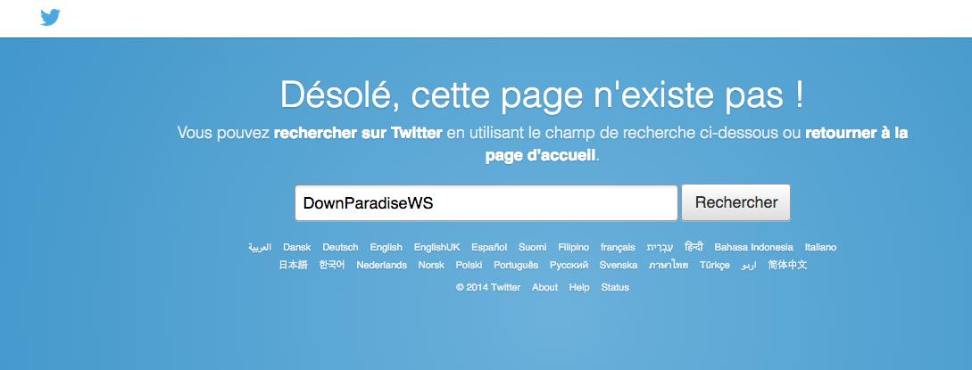 fermeture-downparadise-twitter