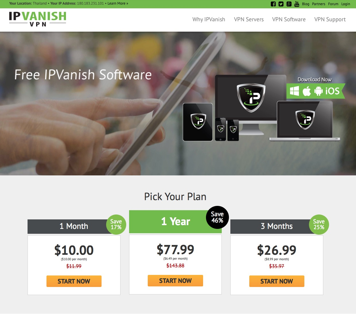IPVanish-website