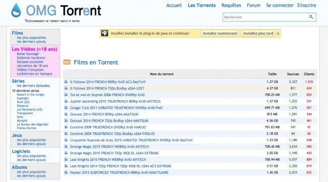 qctorrent ne fonctionne plus