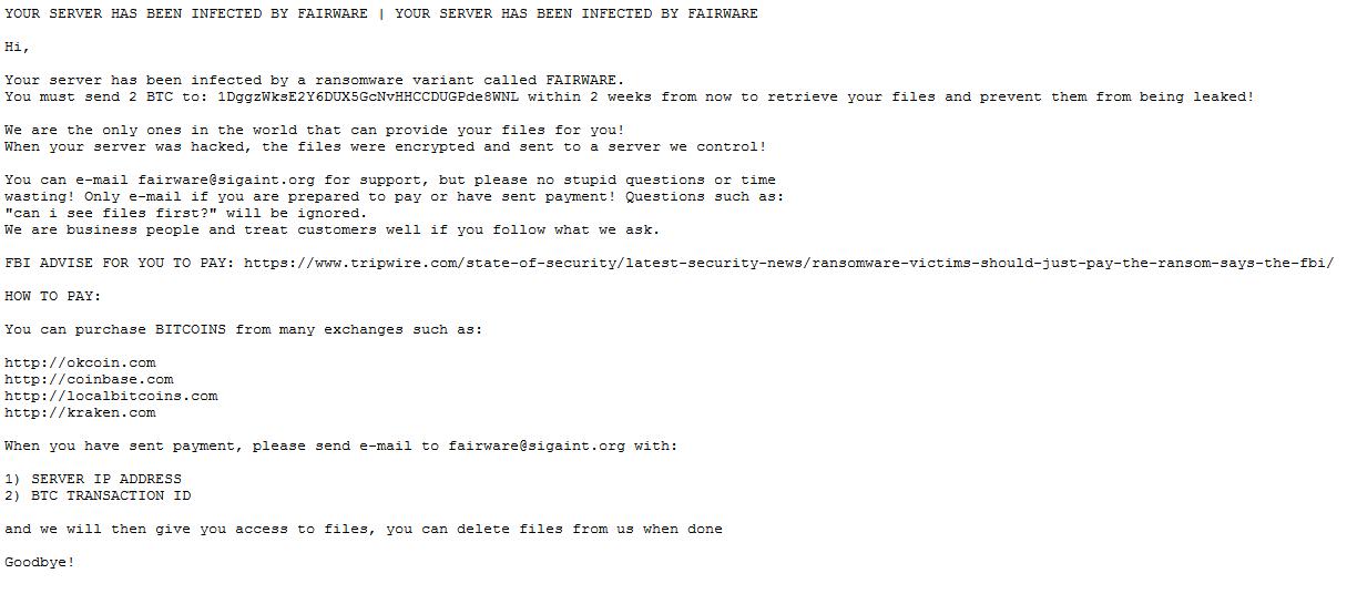 fairware-message