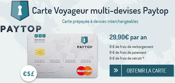 Carte Bancaire Prepayee Livre Sterling.Carte Bancaire Prepayee Multi Devises Paytop Mastercard