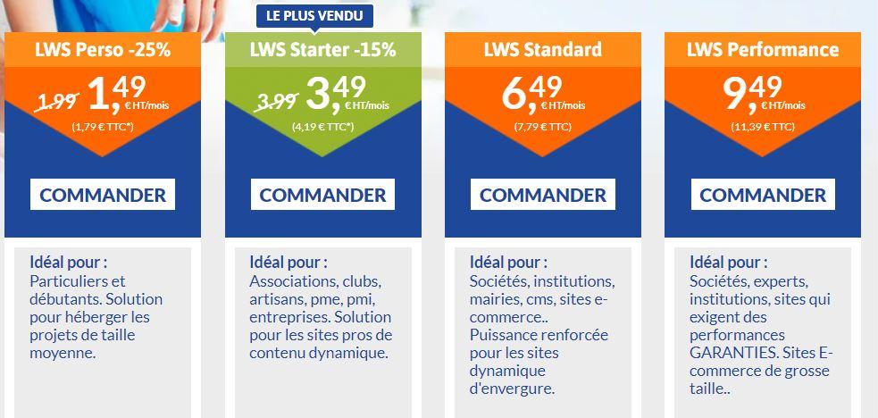 LWS - Meilleur hébergeur Web / meilleur hébergement Web